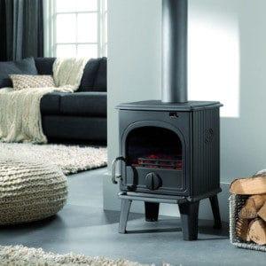 Fonte-flamme-poele-a-bois-design-rustique-44MF-laque-anthracite
