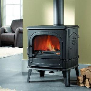 Fonte-flamme-64CB-poele-a-bois-design-rustique-laque-anthracite
