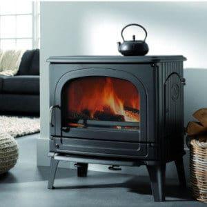 Fonte-flamme-78CB-poele-a-bois-design-rustique-laque-anthracite