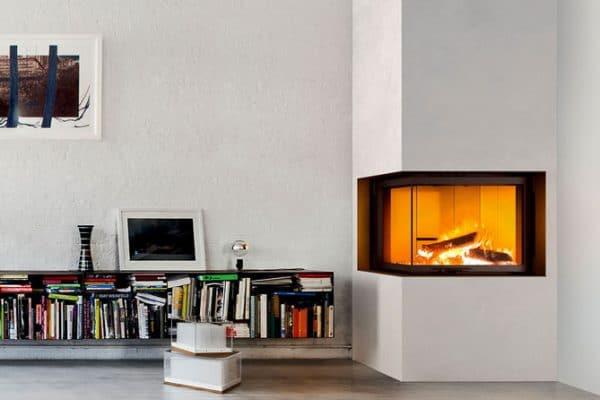 Foyer bois MCZ plasma-75dx-angle vitré porte relevable