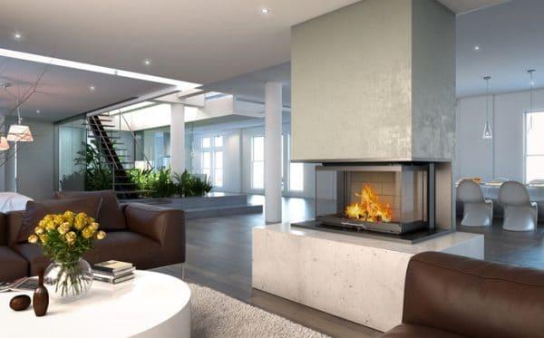 Foyer cheminée LORFLAM VS 101 3 Faces-cheminees-jouvin-vitré