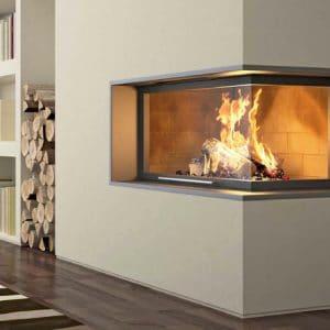 Foyer cheminée Totem Technika Lateral 1000