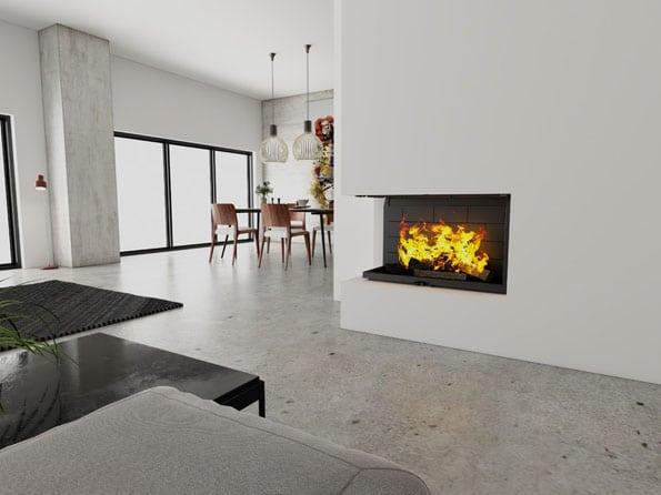 Foyer cheminée Totem Technika Lateral 1000 (8)