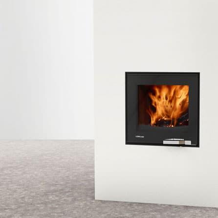 Foyer de cheminée LORFLAM-XP54-IN-black design contemporain