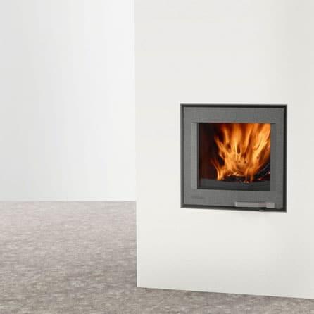 Foyer de cheminée LORFLAM-XP54-IN-graphite- design contemporain