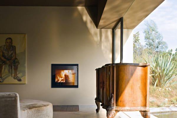Insert cheminée foyer bois MCZ Vivo 70 design contemporain cheminées jouvin à Vitré avec cadre acier