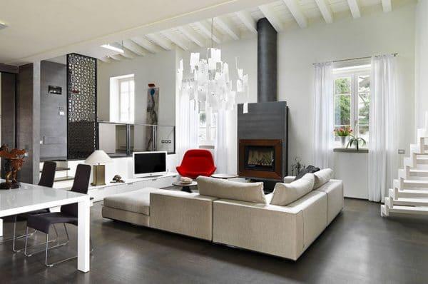 Insert cheminée foyer bois MCZ Vivo 70 design contemporain cheminées jouvin à Vitré habillage bois