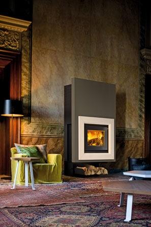 Insert cheminée foyer bois MCZ Vivo 70 design contemporain cheminées jouvin à Vitré