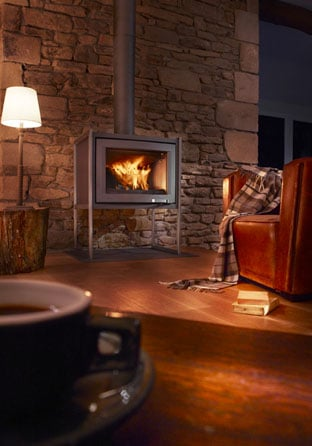 LORFLAM-poele-cheminée-bois-XP78-BOX-campagne vitré cheminées Jouvin 35