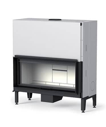 cheminée foyer bois MCZ Plasma 115 avec porte relevable