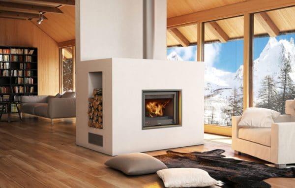 deco moderne foyer bois cheminée LORFLAM-EASY75VO- cheminées Jouvin Vitré 35