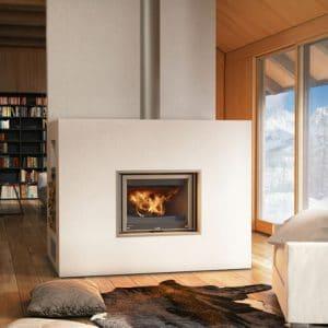 foyer bois de cheminée LORFLAM-EASY75VO- cheminées Jouvin Vitré 35